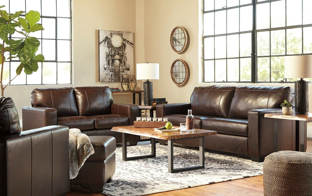 Morelos Collection leather sofa, love seat, recliner