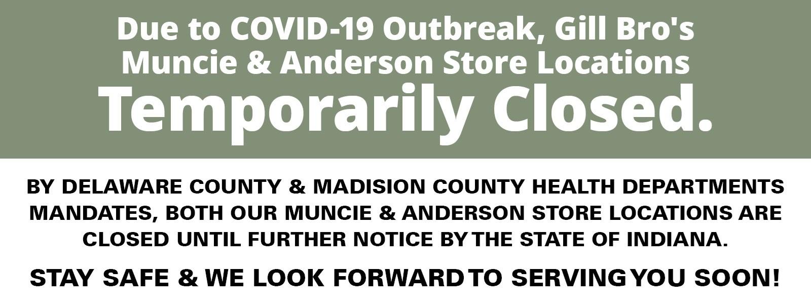 Stores Closed Indefinitely
