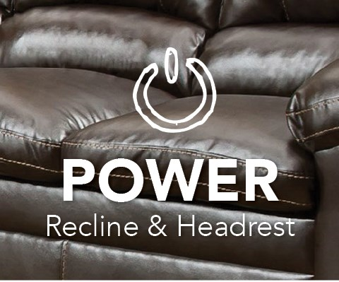 Power Headrest and Reclining at Royal Furniture