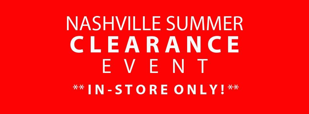 Summer Clearance Event Nashville