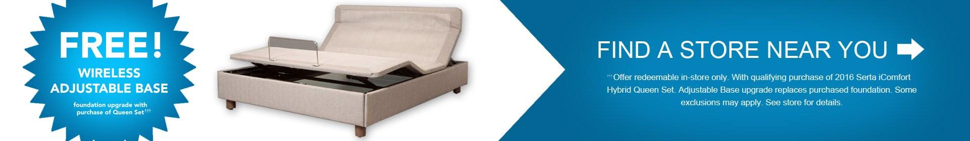 Free Adjustable Base with Serta Mattress at Royal Furniture