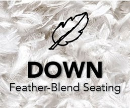Down Feather-Blend Seating