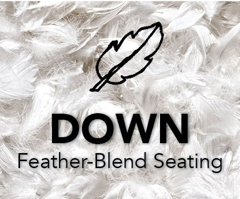 Feather-Blend Down Seats at Royal Furniture