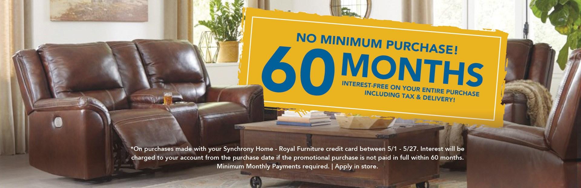 60 MONTHS INTEREST FREE FURNITURE FINANCING