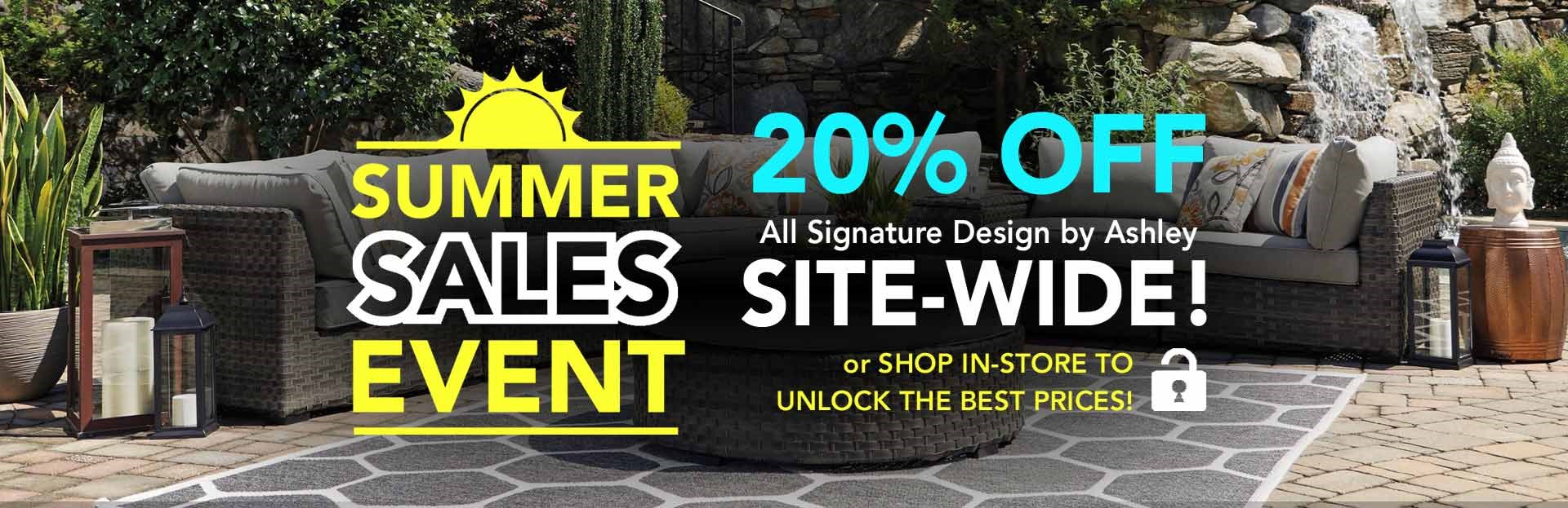 Summer Sales Event 20% off Ashley