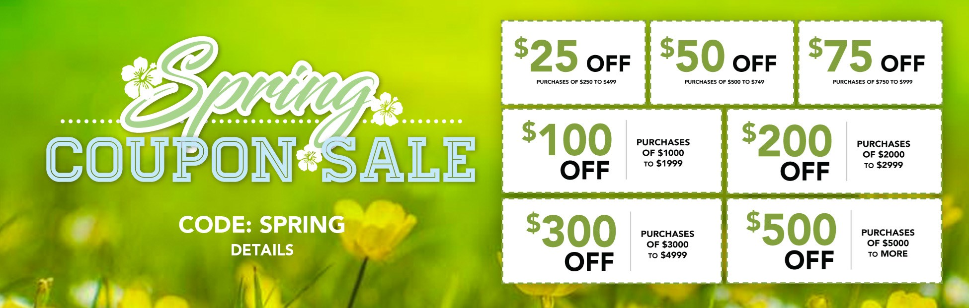 Spring Coupon Sale