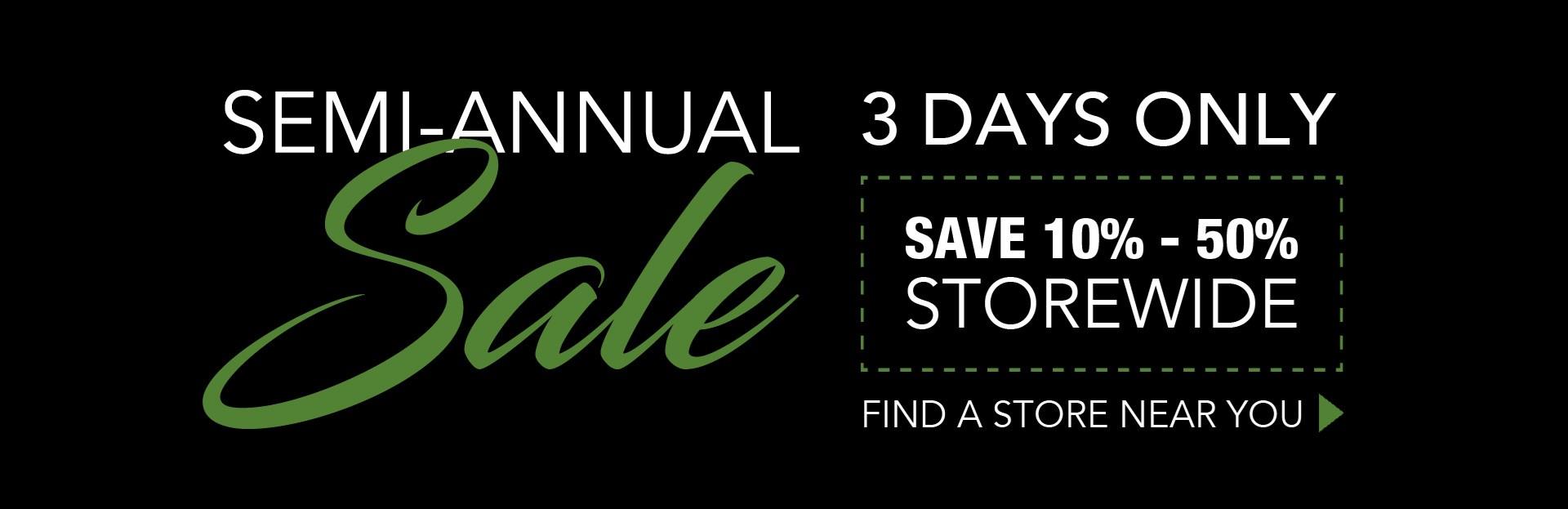 Semi-Annual 3 Day Sale