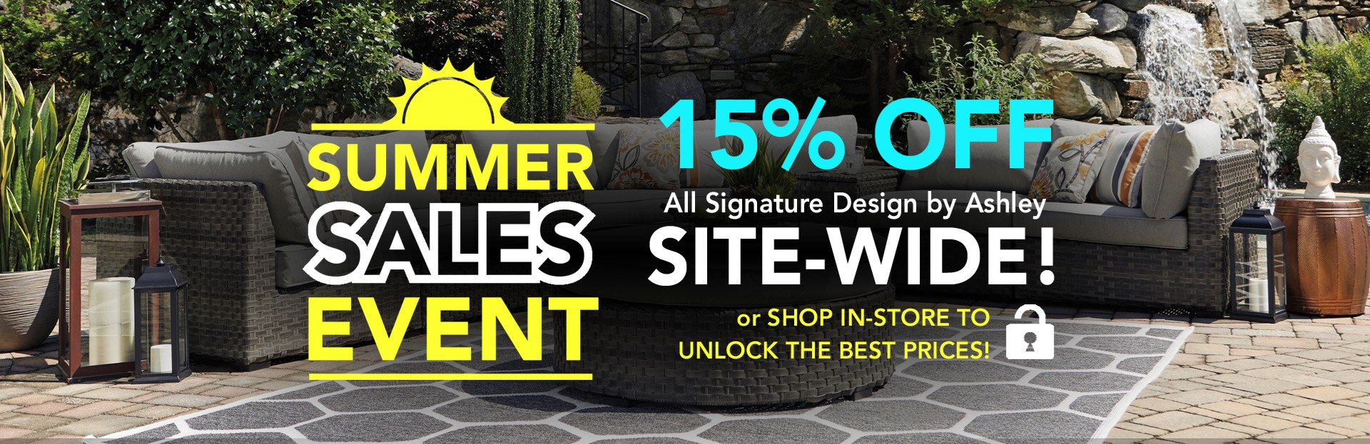 Summer Sales Event 15% off Ashley