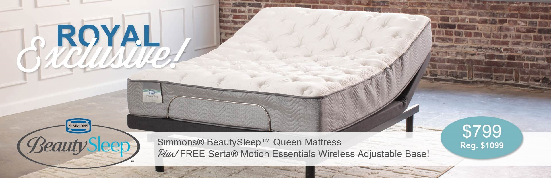 Simmons Mattress with Free Adjustable Base