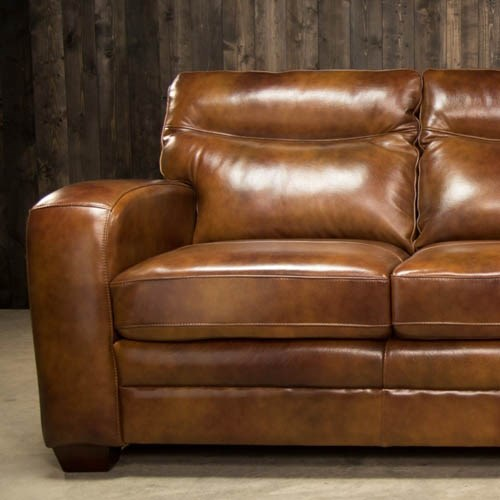 Leather Stationary Sofas and COuches