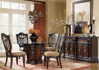 stately and ornate dining set