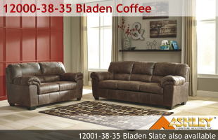 Ashley Bladen Coffee or Slate Sofa and Loveseat