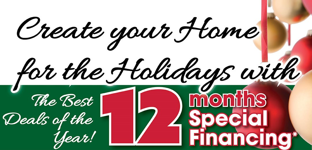 Create your home for the holidays with specila finaicng