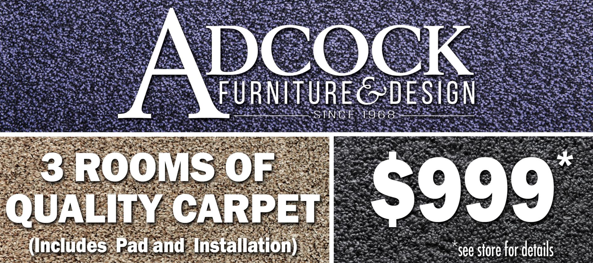 Three Rooms of Carpet Sale