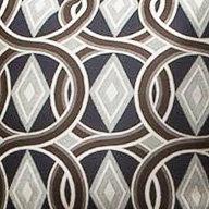 Brown & Blue Geo Fabric 3510-16-Accent