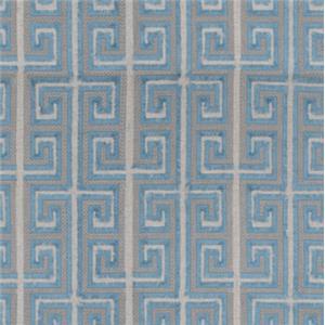 Lexington Avondale Hampstead Tuxedo Back Settee in Greek Key Fabric