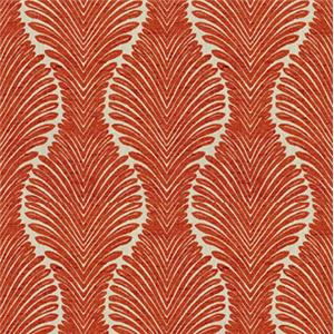 Red Stylized Palm 6383-51