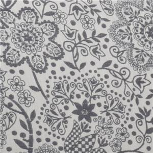 Gray Floral 1602-04