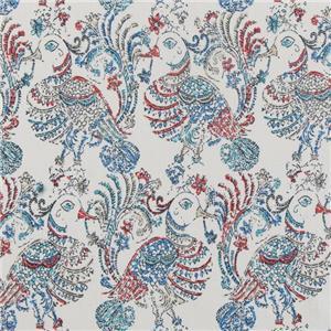 Peacock Print Linen 20551-91