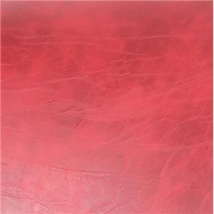 Red Crackle Bonded Leather Red