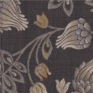 Dark Gray Floral 326014