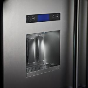 thermador 48 refrigerator. a must for active kitchens. fully filtered ice and water are provided by this convenient through-the-door dispenser (dispenser models only). thermador 48 refrigerator r