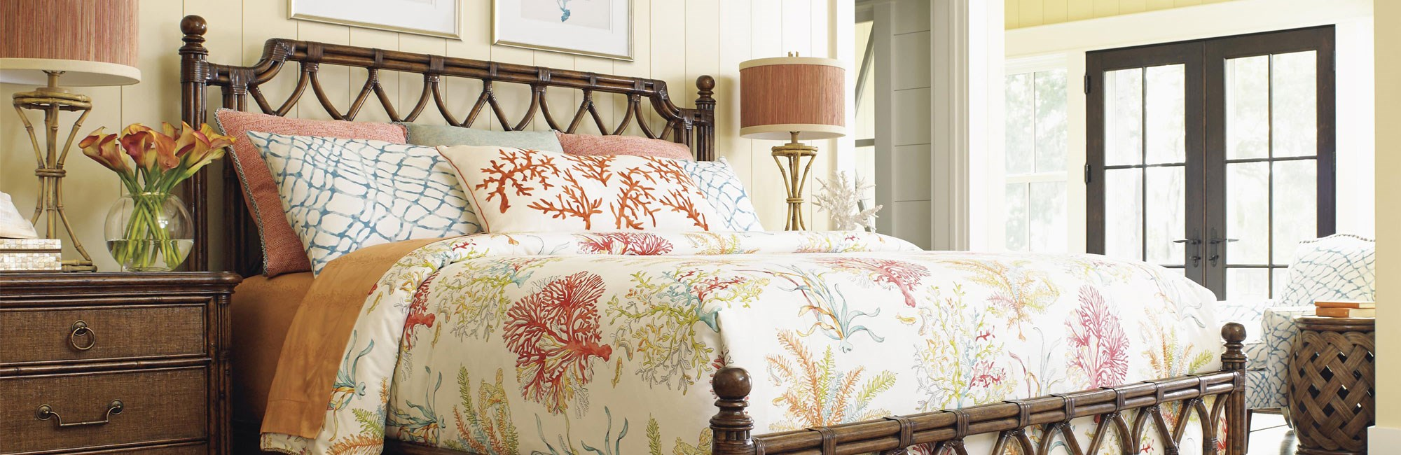 Coral Comforter Bedroom Set
