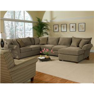 Alan White 10400 Upholstered Sectional  sc 1 st  BigFurnitureWebsite : alan white sectional - Sectionals, Sofas & Couches