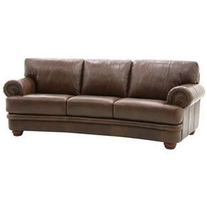 HTL 2257 Traditional Styled Sofa with Rolled Arms and Nail Head Trim