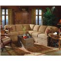 Fairfield 3720 Sectional Sofa - Item Number: 3720-54+51