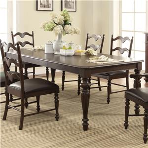"Winners Only Cambridge Leg Table with 20"" Leaf"