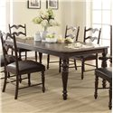 "Winners Only Cambridge Leg Table with 20"" Leaf - Item Number: DC14286M"