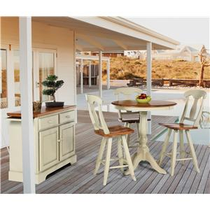 Canadel Custom Dining - High Dining  4 Pc. Pub Table & Chair Set