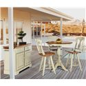 Canadel Custom Dining - High Dining  Customizable 35.25 Round Pub Table - Shown with Stools & Server