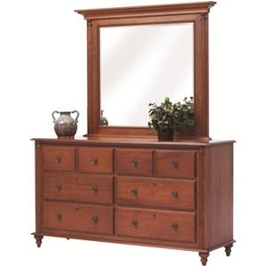 Rotmans Amish Fur Elise Dresser and Mirror