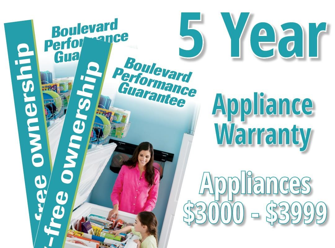 5 Year Appliance Warranty - $3000 - $3999