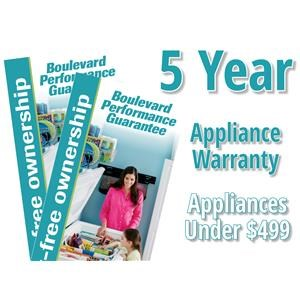 5 Year Appliance Warranty - Purchases Under