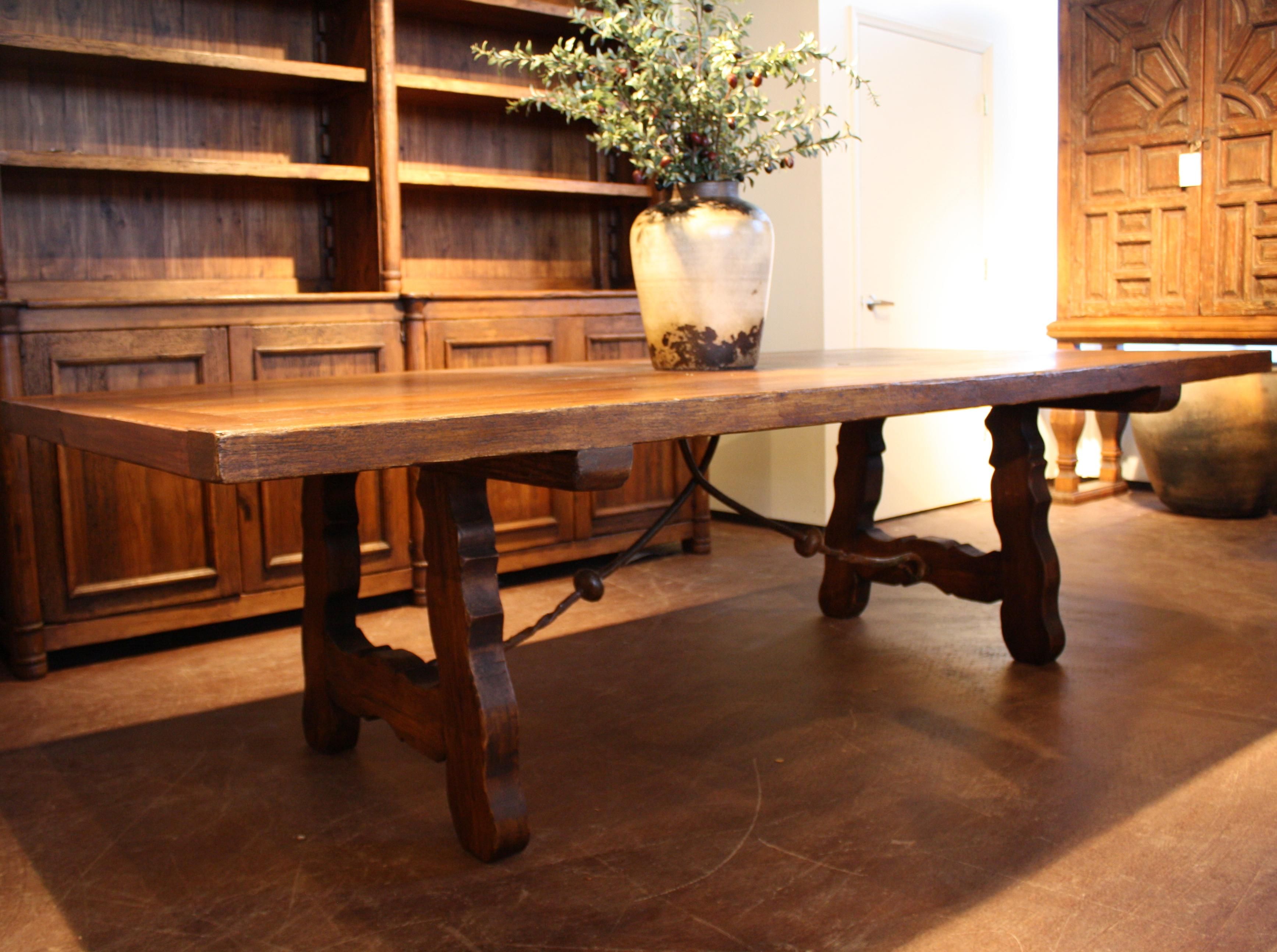 Pastora Dining Table with Iron Work