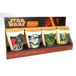 Boulevard Home Furnishings Star Wars Star Wars 4Pc. Bamboo Drink Set 10oz.