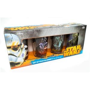 Star Wars 4 Pc. Character Glass Set 16 oz.