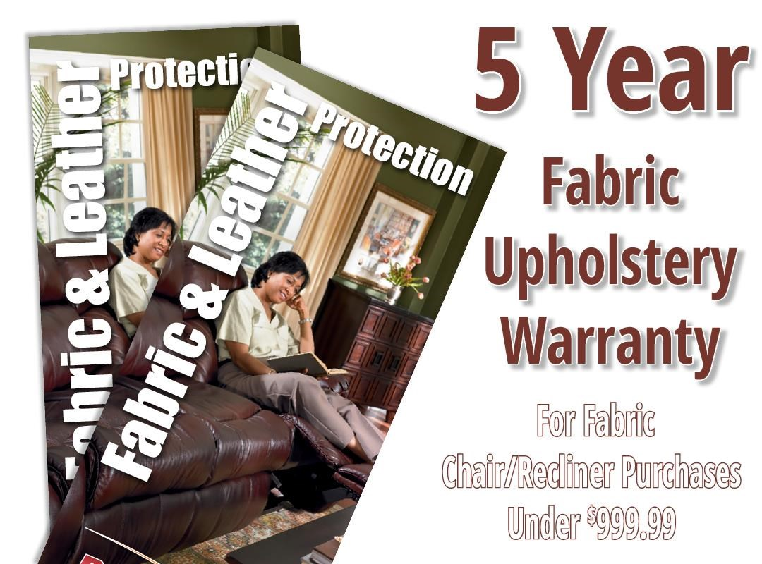 Boulevard Home Furnishings Fabric 5 Year Warranty Chair or Recliner Fabric Protection Warranty - Item Number: 1510001
