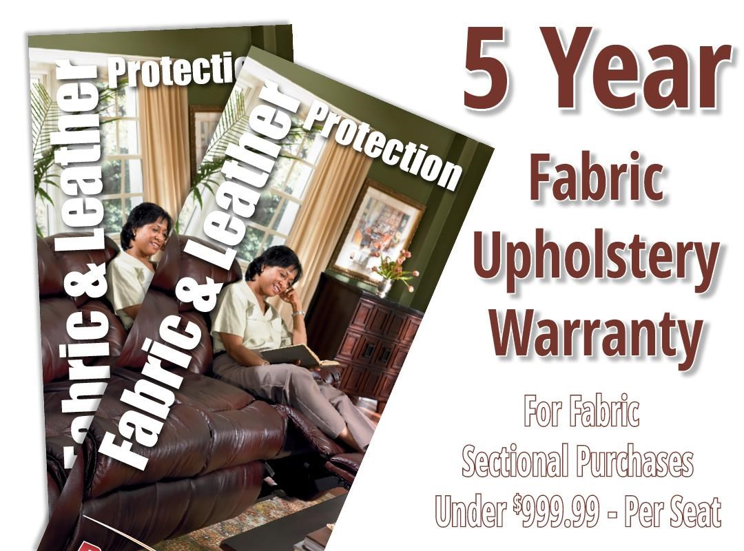 Boulevard Home Furnishings Fabric 5 Year Warranty Sectional 5 Year Fabric Warranty- Per Seat - Item Number: 1510001