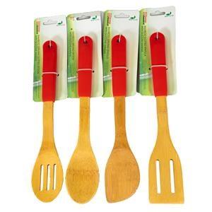 Bamboo Utensil Set - Red