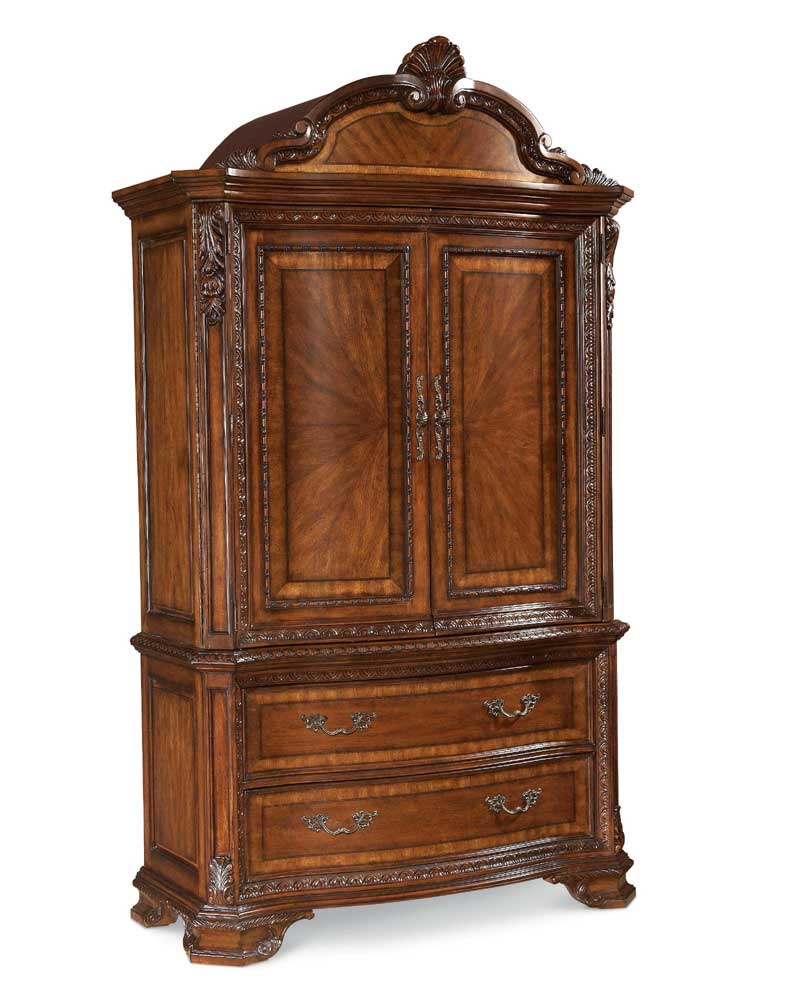 Cabinet Bedroom Furniture: A.R.T. Furniture Inc Old World Armoire Base And Top