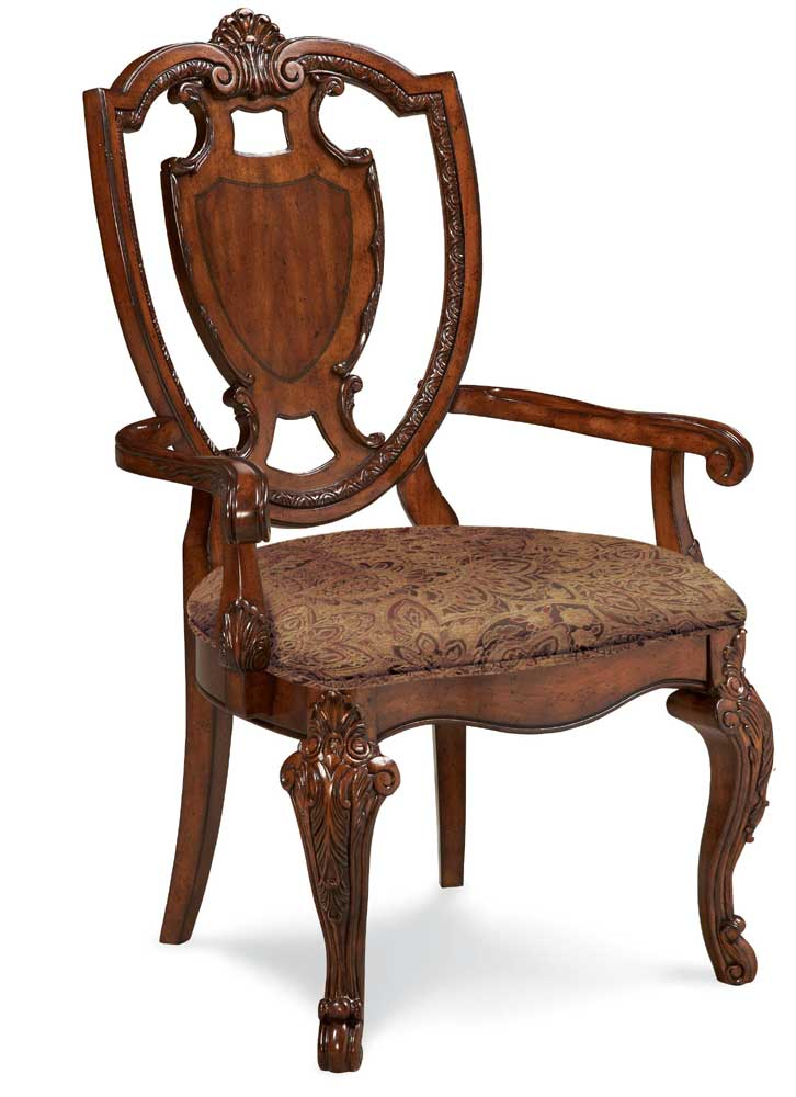 A.R.T. Furniture Inc Old World Shield Back Arm Chair - Item Number: 43205