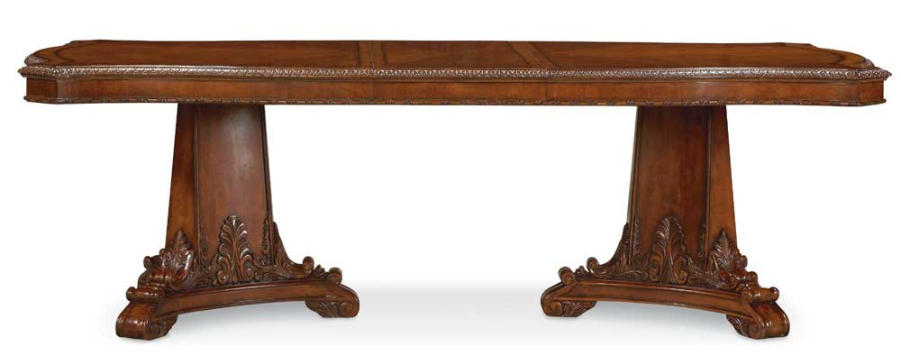 A.R.T. Furniture Inc Old World Double Pedestal Dining Table - Item Number: 43221