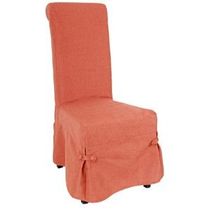A & B Home Accent Chairs Orange Skirted Parsons Chair