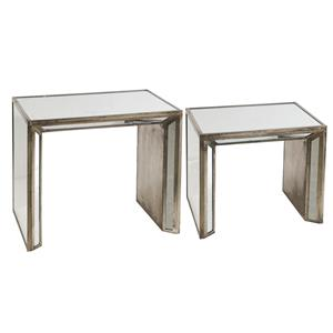 Waverly Mirrored Nesting Side Tables