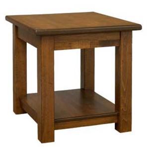 AA Laun Field Modern Solid Maple 1 Shelf End Table