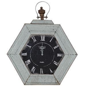Ruby-Gordon Accents Ruby Gordon Accents Distressed Metal Wall Clock